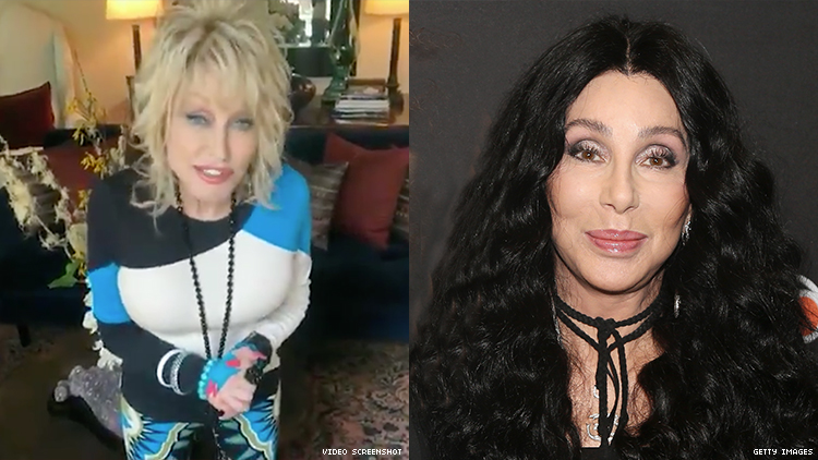 Dolly Parton and Cher