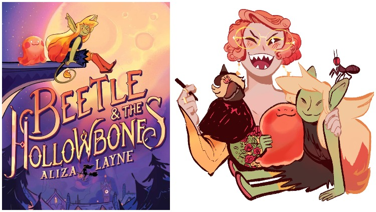 The graphic novel Beetle & the Hollowbones by Aliza Layne effortlessly centers positive LGBTQ+ characters and storylines for teens and young adults.