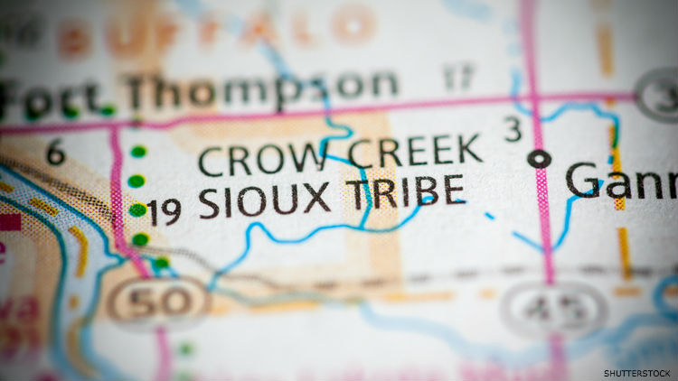 Crow Creek Sioux Map