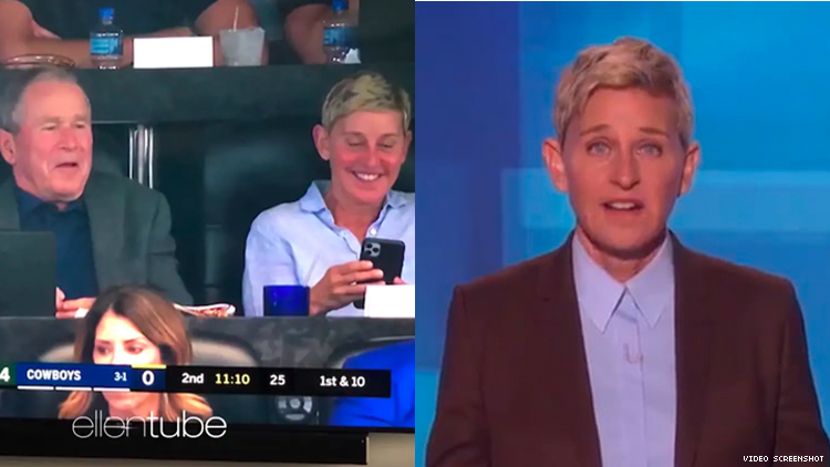 No Ellen, Being Friends With George W. Bush Is Not the Answer