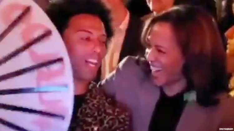 Kamala Harris Learns To Snap A Fan From Shangela At The Abbey Gay Bar