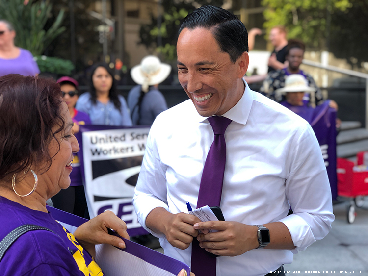 Todd Gloria with supporters