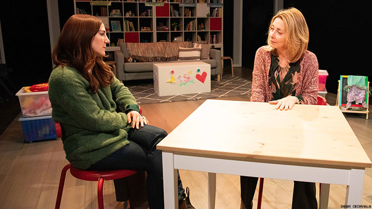 Sarah Utterback and Sharon Lawrence in A Kid Like Jake