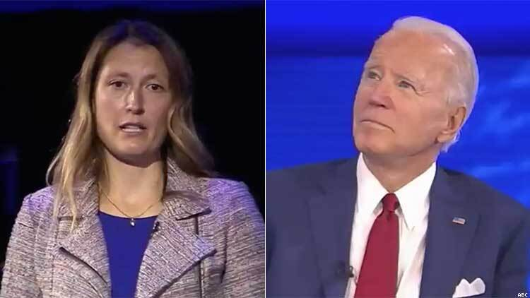 Mieke Haeck and Joe Biden