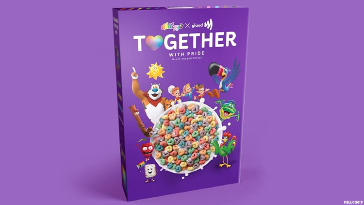 Kellogg's Releases Pride-Themed Cereal With GLAAD