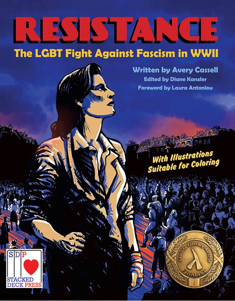 Cover of Resistance: The LGBT Fight Against Fascism in WWII featuring woman resistance fighter