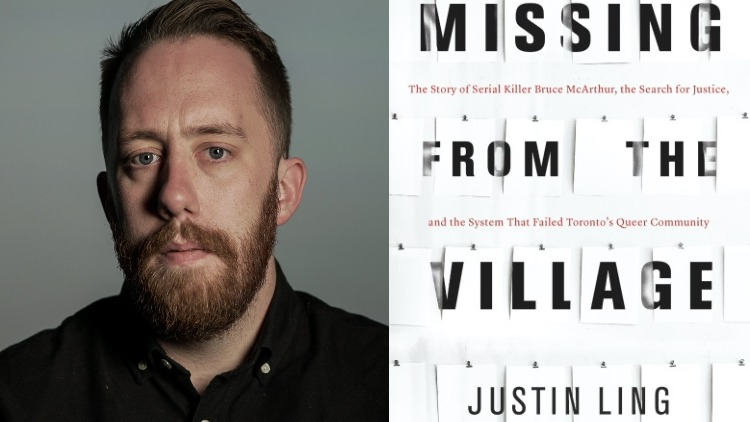 Author Justin Ling and his book 'Murder in the Village'
