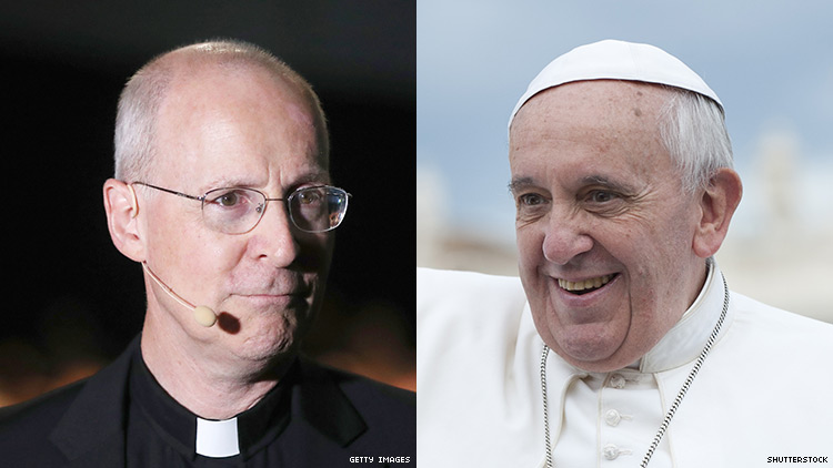 Father James Martin and Pope Francis