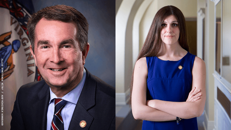 Virginia Governor Ralph Northam and Delegate Danica Roem