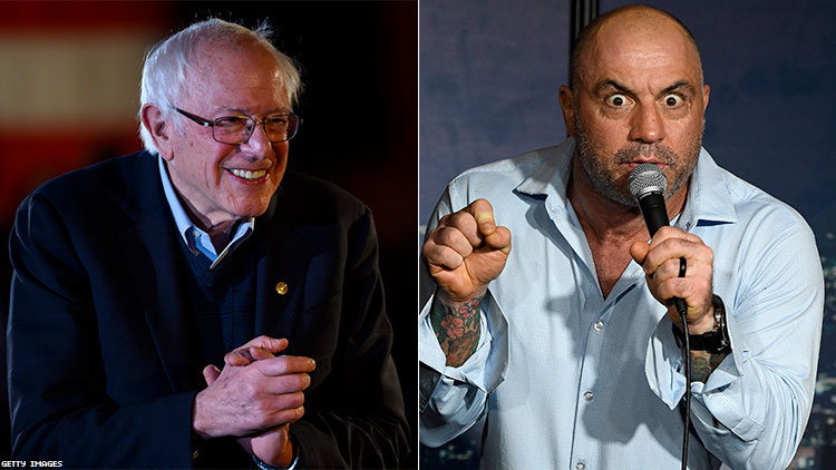 Bernie Sanders and Joe Rogan