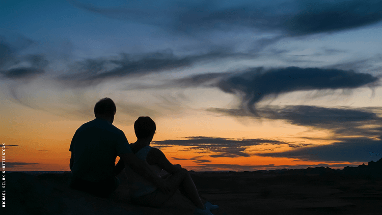 Silhouetted Against A Beautiful Sunset 750x422