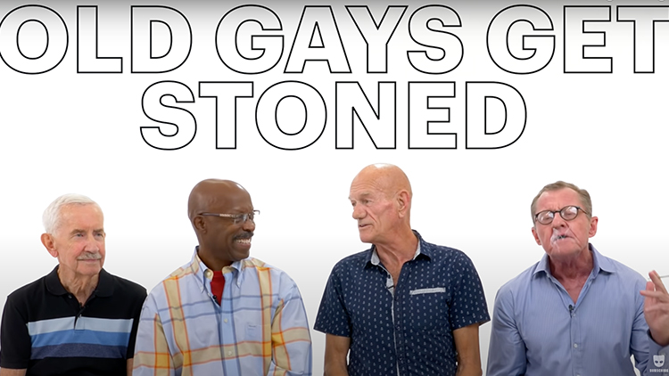 Old Gays Get Stoned