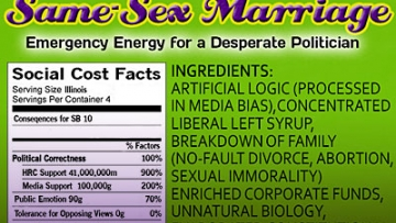 Illinois Family Institute Compares Marriage Equality to Junk Food