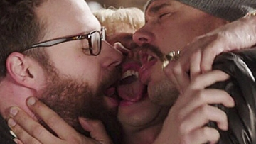 James Franco Celebrates Interview Release With Same-Sex Kiss