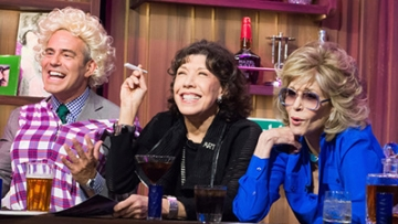Andy Cohen Reenacts Classic '9 to 5' Scene With Jane Fonda and Lily Tomlin