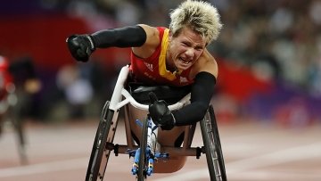 Marieke Vervoort won gold for this race during the 2012 Paralympic Games in London