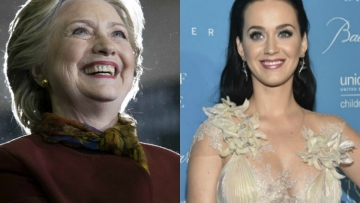Hillary Clinton Surprises Katy Perry at UNICEF Ball (Video)
