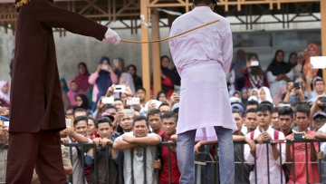Public caning in Indonesia