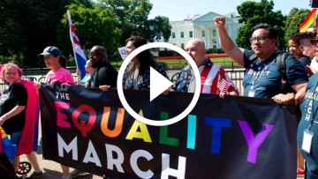 Thousands Protest Trump, Rally to Protect LGBT Rights at D.C. Equality March