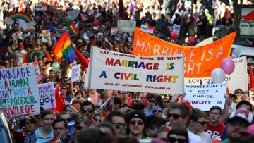 Marching for marriage equality in Brisbane