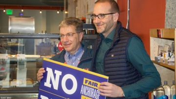 Mayor of Anchorage Ethan Berkowitz and Chad Griffin of HRC