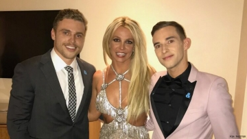 Gus Kenworthy and Britney Spears and Adam Rippon
