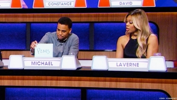 Laverne Cox Laughs Off an Awkward Genitalia Joke on 'Match Game'