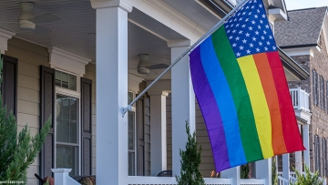 Neighbors Fly Rainbow Flag in Solidarity After Theft