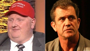 Eric Porterfield and Mel Gibson