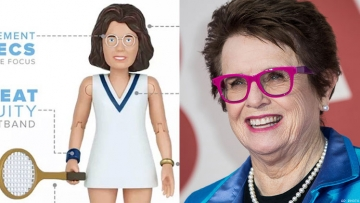 Billie Jean King and Action Figure
