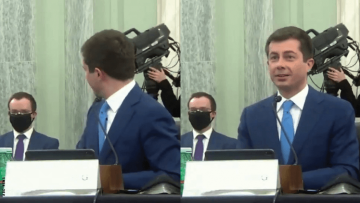 Pete and Chasten Buttigieg at hearing