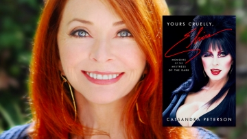 cassandra Peterson and yours cruelly, Elvira cover