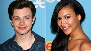 Chris Colfer and Naya Rivera