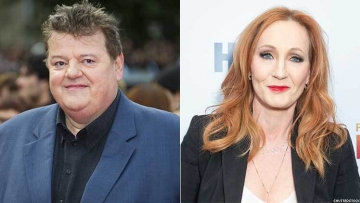 Robbie Coltrane and J.K. Rowling