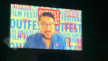 Damien S. Navarro at the Outfest Drive-In