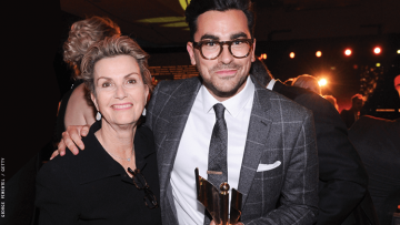 Dan Levy and his mom
