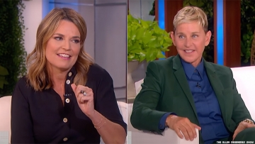 Savannah Guthrie and Ellen DeGeneres
