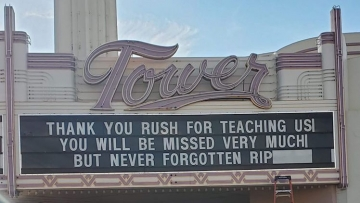 the marquee of the Tower Theatre