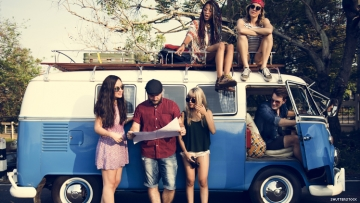 Friends with VW Van