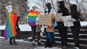 trans South Dakotans protesting