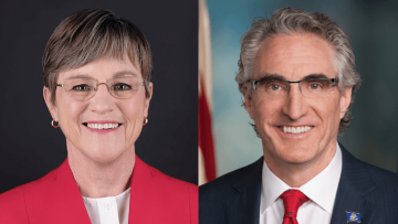 Governors Laura Kelly and Doug Burgum
