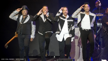 The Jacksons performing in 2018