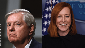 Lindsey Graham and Jen Psaki