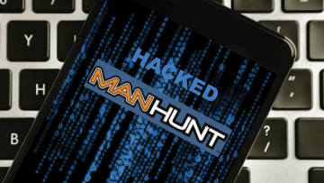 a phone that says hacked on it