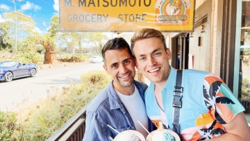 Will & James Matsumoto Shave Ice in Hawaii