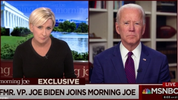 Joe Biden used an interview Mika Brzezinski on Morning Joe to deny he sexually assaulted former staffer Tara Reade while he was a Senator