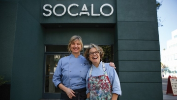Lesbian Chef Susan Feniger (seen here with fellow chef and biz partner Mary Sue Milliken) is Cooking with Fire to Protect Restaurants
