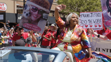 Miss Major in a Pride parade
