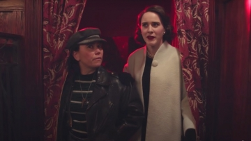 Alex Borstein and Rachel Brosnahan