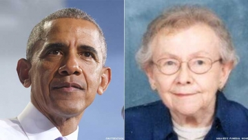 Barack Obama and Margaret Arlene Payne